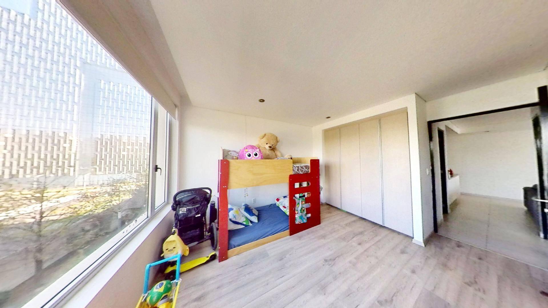 Departamento 2 recámaras en venta en Torre Central de Parques Polanco. Segunda recámara