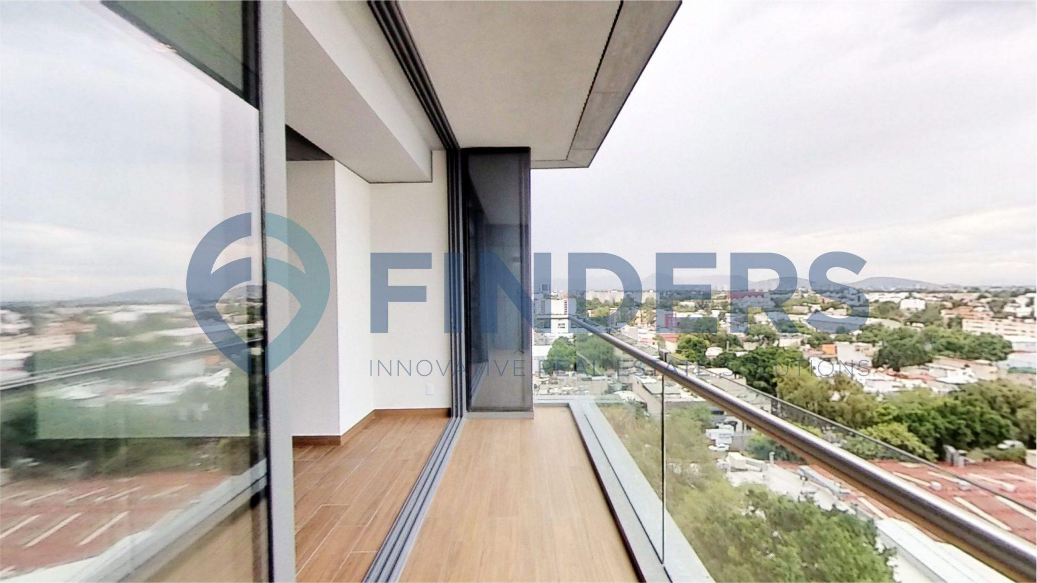 Venta departamento de 3 recámaras en Be Grand Alto Polanco Torre 3, Colonia Granada, Miguel Hidalgo, CDMX. Amplio balcon terraza